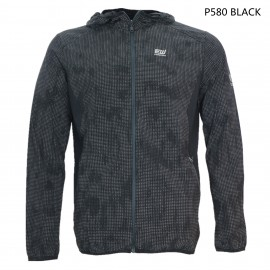 MEN UV PROTECTION AND  WATER REPELLENT PRINT HOOD JACKET