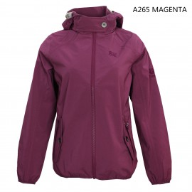 LADIES UV PROTECTION AND WATER REPELLENT SEAMED HOODIE JACKET