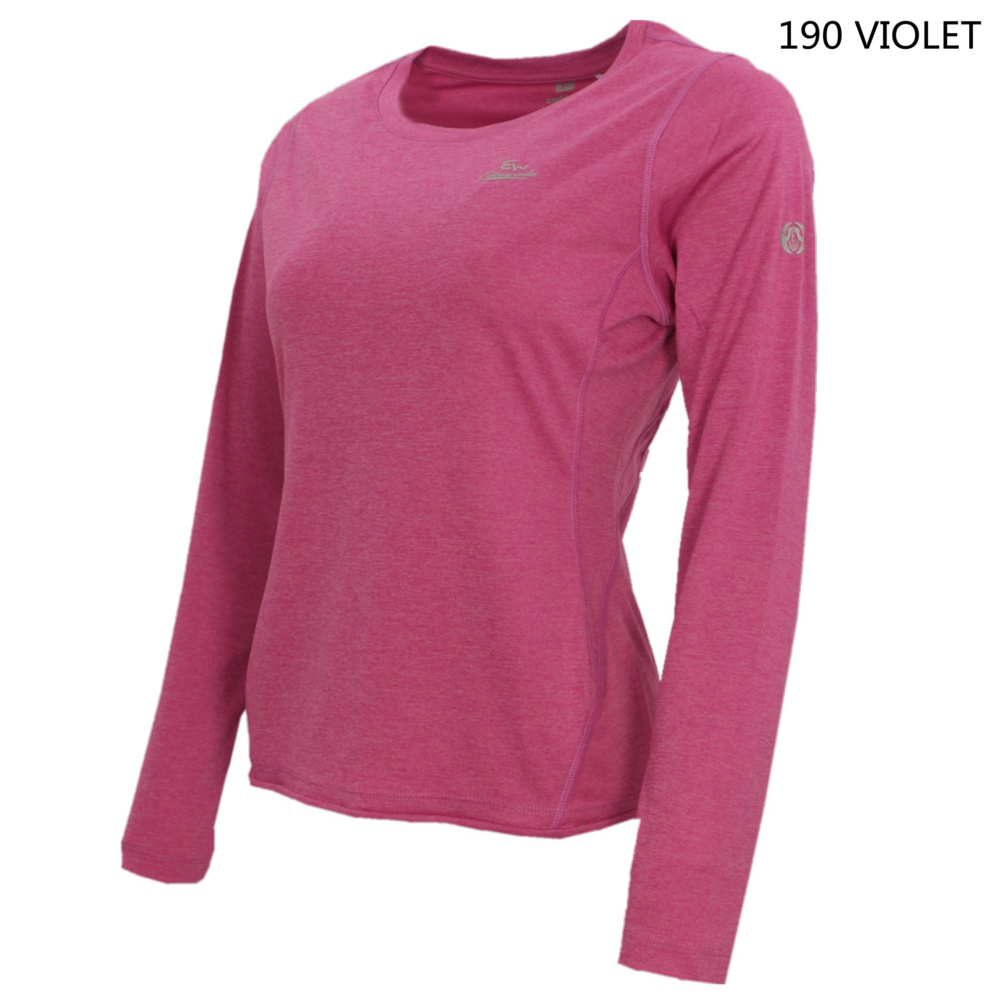 女裝長袖圓領T-shirt 女装长袖圆领T-shirt Women Long-Sleeve Round Neck T-Shirt