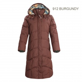 女裝長袖長裝甩帽(90/10gm)羽絨 LADIES LONG DOWN JACKET
